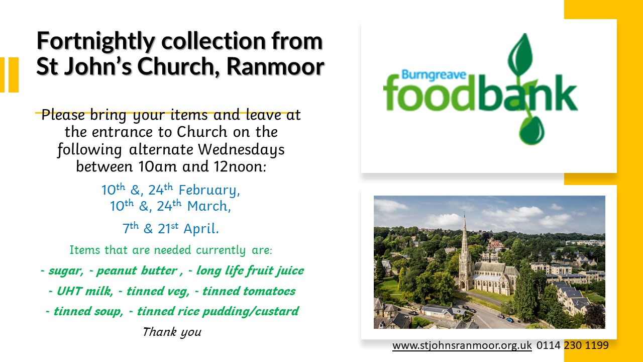 Foodbank collection Jan 2020