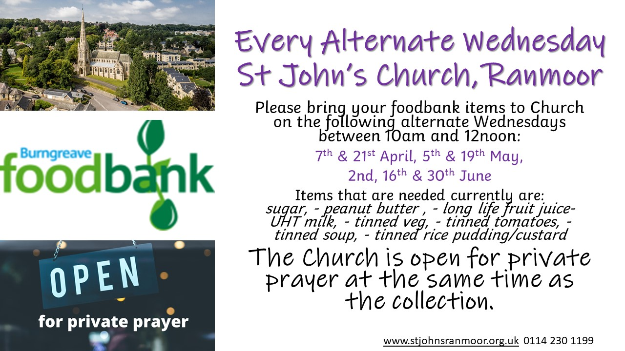 Foodbank collection April 2021